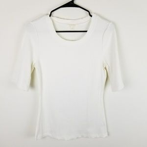 Anthropologie Pure and Good Sz M Top Shirt Ribbed